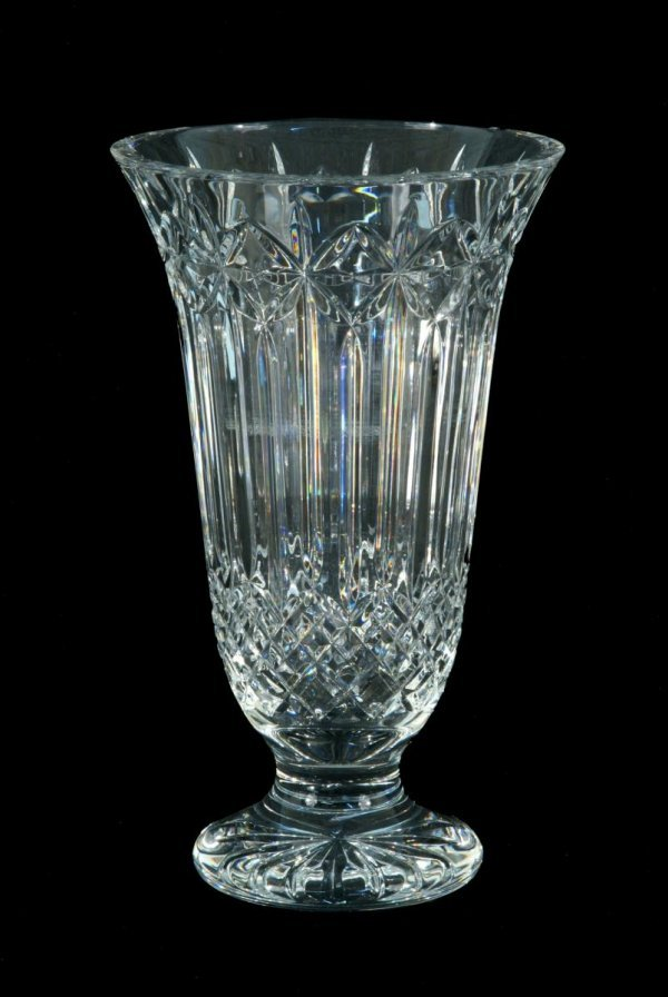 14: TALL HAND-CUT CRYSTAL WATERFORD VASE