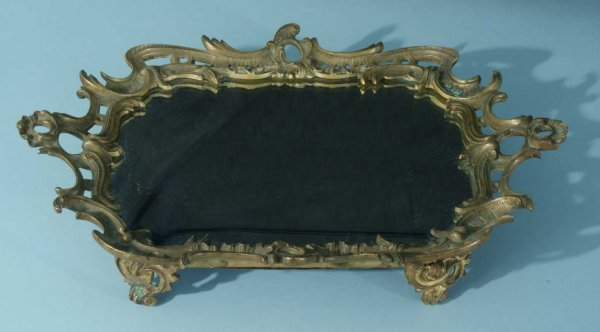 16: 19th CENTURY BRONZE MOUNT MIRRORED PLATEAU