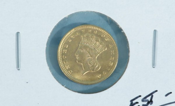 17E: 1856 $1.00 GOLD T-3 MINT STATE 60/62