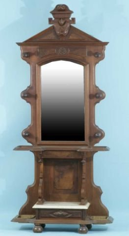 5: AMERICAN VICTORIAN MAHOGANY CANE STAND
