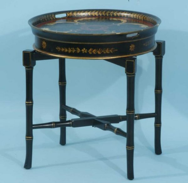 22: ORIENTAL LACQUERED TRAY TABLE