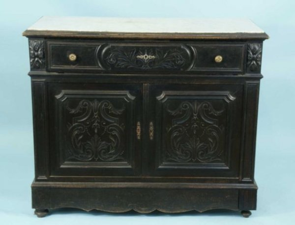 84: ANTIQUE CHEST W/ FITTED DESK DRAWER, CIRCA 1900