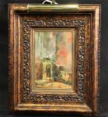 A. MARTINEZ RENDON 1916 MEXICO OIL PAINTING
