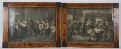 PAIR OF 19th CENTURY TAVERN SCENE ENGRAVINGS