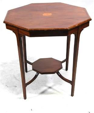 ANTIQUE MAHOGANY INLAID TABLE