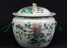CHINESE PORCELAIN LIDDED JAR, 1860