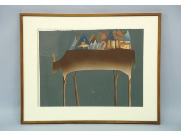 4: FRAMED  SOUTHWEST STYLE ABSTRACT PRINT