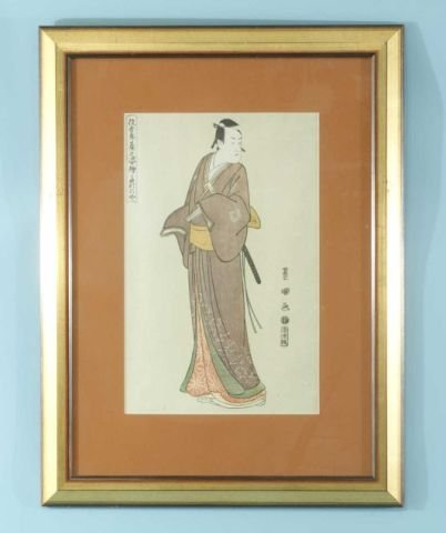 """19: UTAGAWA TOYOKUNI """"PORTRAITS OF ACTORS"""" WOODBLOCK"""