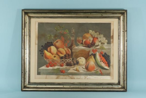 23: FRAMED & MATTED PRINT OF AMERICAN PRIZE FRUIT