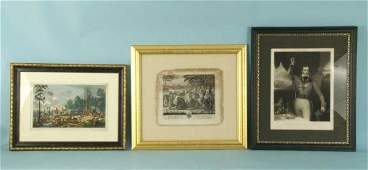 28: THREE FRAMED AND MATTED ENGRAVINGS