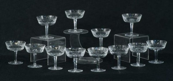 16: LOT OF TWELVE WATERFORD CHAMPAGNE GLASSES