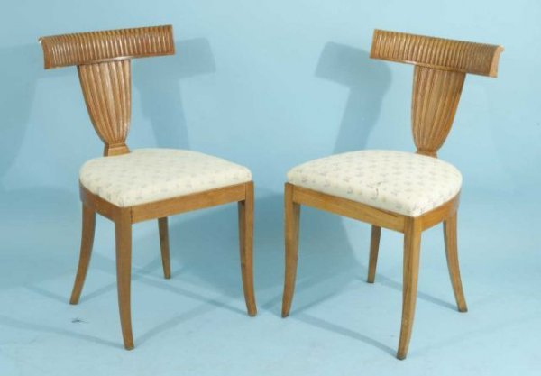 18: PAIR OF ITALIAN ART DECO STYLE SIDE CHAIRS