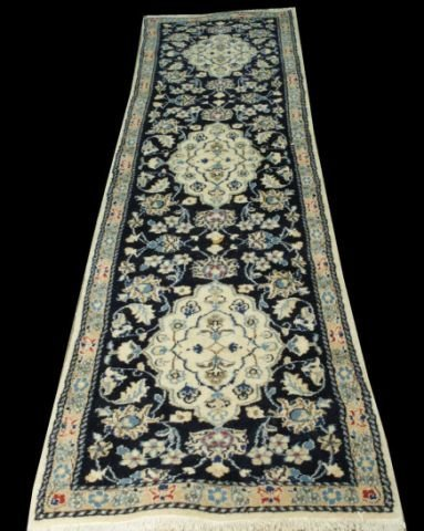 11: PERSIAN NAIEN RUNNER WITH SILK INLAY