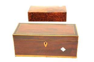 TWO ANTIQUE WOODEN BOXES