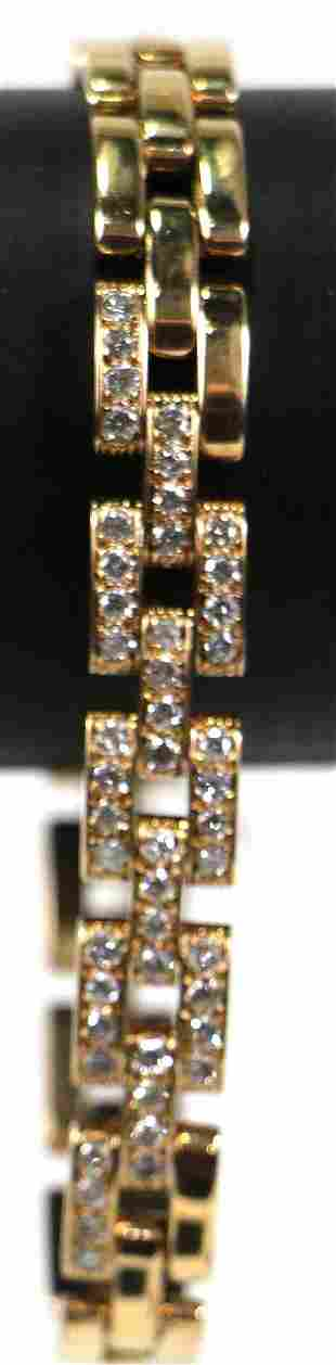 CARTIER MEILLON PANTHERE 18kt DIAMOND BRACELET