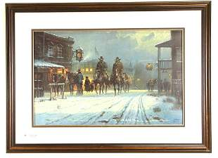 G. HARVEY SIGNED AND NUMBERED PRINT, 1980