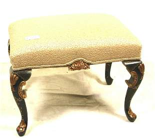 CHIPPENDALE STYLE GILT CARVED & PAINTED BENCH