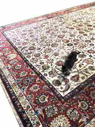 VINTAGE HAND KNOTTED PERSIAN MAHAL RUG
