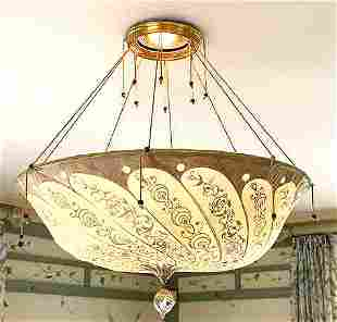 FORTUNY SILK DOME CHANDELIER