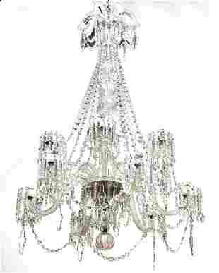 19th CENTURY WATERFORD CRYSTAL CHANDELIER