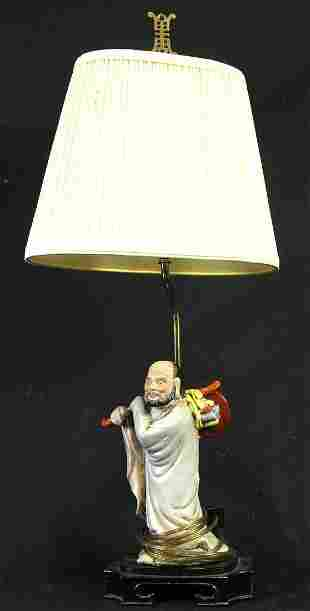 CHINESE FIGURAL LAMP