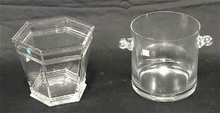 TWO TIFFANY & CO. CRYSTAL ICE BUCKETS