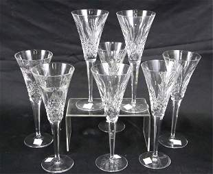 SET OF EIGHT WATERFORD CHAMPAGNE FLUTES