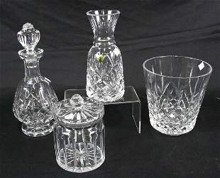 LOT OF FOUR CRYSTAL PIECES