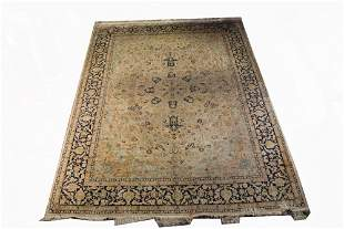 HAND KNOTTED CHINESE SILK TABRIZ CARPET