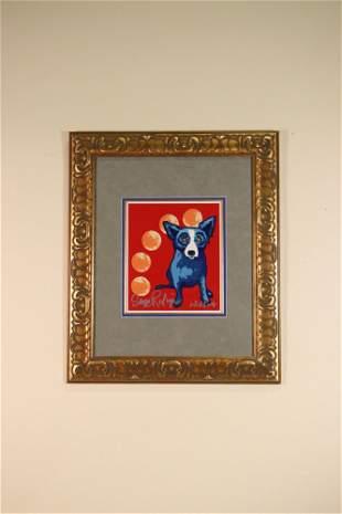 GEORGE RODRIGUE MANY MOONS AGO BLUE DOG SERIES AP