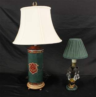 MIXED LOT OF TWO TABLE LAMPS