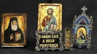 SET OF FIVE WALL HANGING ICONS