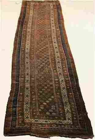 ANTIQUE HAND-KNOTTED SARAB RUNNER