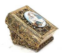 VINTAGE JEWELRY BOX IN THE FORM A BOOK
