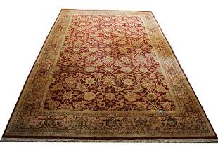 LARGE PERSIAN HANDKNOTTED AREA RUG