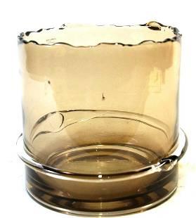 CONTEMPORARY AMBER GLASS BOWL