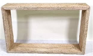 CONTEMPORARY RUSH COVERED CONSOLE TABLE