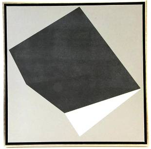 BLACK AND WHITE ABSTRACT ON CANVAS