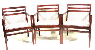 SET OF THREE MID-CENTURY STYLE ARMCHAIRS BY TAYLOR