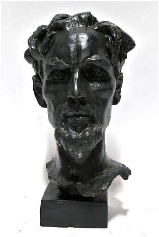 ROMAN BRONZE HEAD SCULPTURE