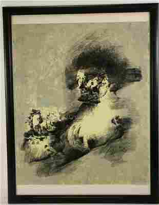 """BYRON """"CATTANCE II"""" ABSTRACT SILKSCREEN SIGNED"""