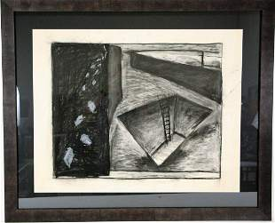 """LAURENT BOCCARA """"HOLE WITH LADDER"""" CHARCOAL"""