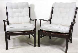 PAIR OF PARKER KNOLL MID-CENTURY MODERN ARMCHAIRS