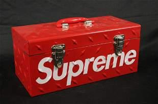 RARE FW18 SUPREME DIAMOND PLATE RED TOOL BOX