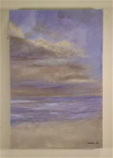 "RUTH LANDAUER ""NIGHTFALL AT THE BEACH"" GICLEE"