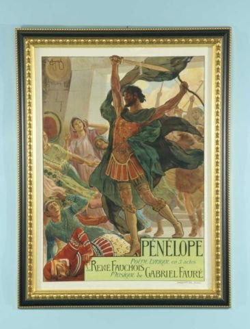 "12: ANTIQUE FRENCH OPERA POSTER ""PENELOPE POEME"""