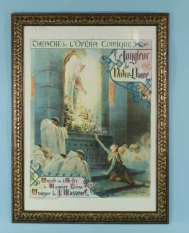 """13: ANTIQUE FRENCH OPERA POSTER """"THEATRE NATIONAL"""""""