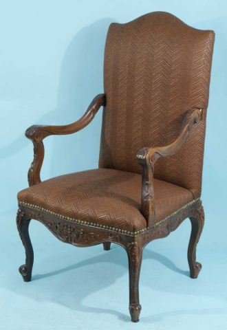 20: HIGHBACK FRENCH STYLE ARMCHAIR