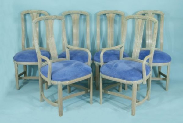 10: SET OF SIX DINING CHAIRS
