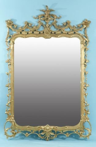 18: CHINESE CHIPPENDALE STYLE CAST MIRROR